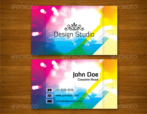 25 beautifully colorful business card templates design panoply wajeb Gallery