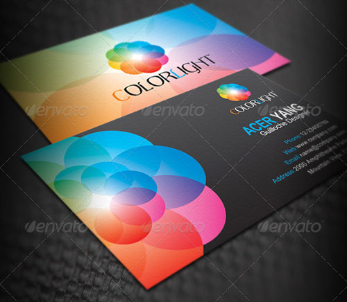 25 beautifully colorful business card templates design panoply let the color begin colourmoves