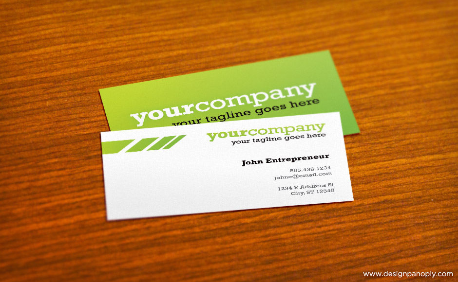 Create A Business Card Mockup In Photoshop Using The Vanishing Point ...