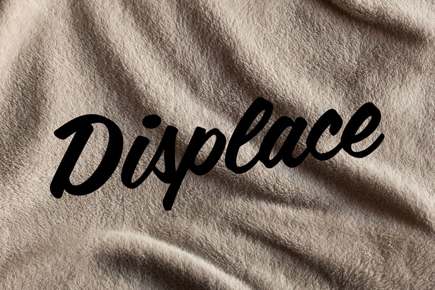 How to Conform Text to a Surface Using a Displacement Map in ... Displacement Map Photoshop on