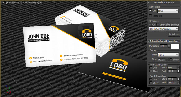 Create a 3d business card mockup in 3d studio max design panoply make sure include and illumination are both marked and add only the floating plane to the list on the right side and click ok colourmoves