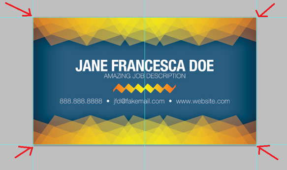 create a simple patterned business card template in photoshop