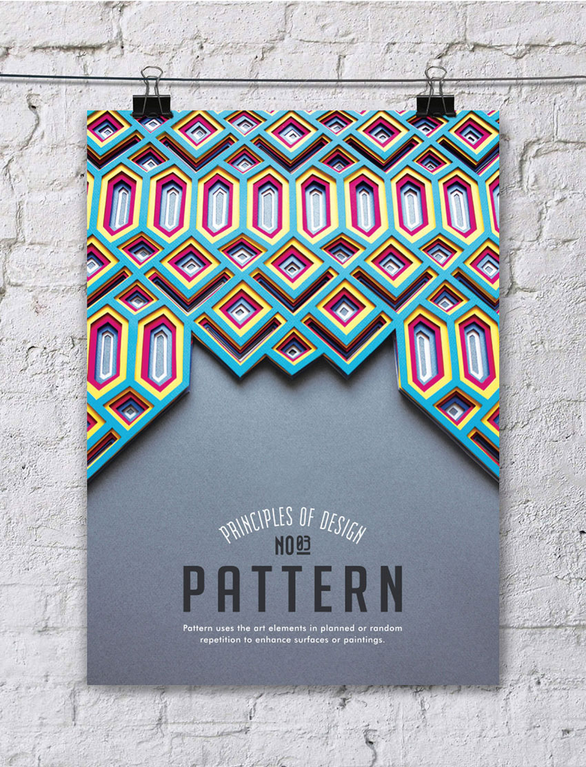 Elements of a poster design - 3 Pattern