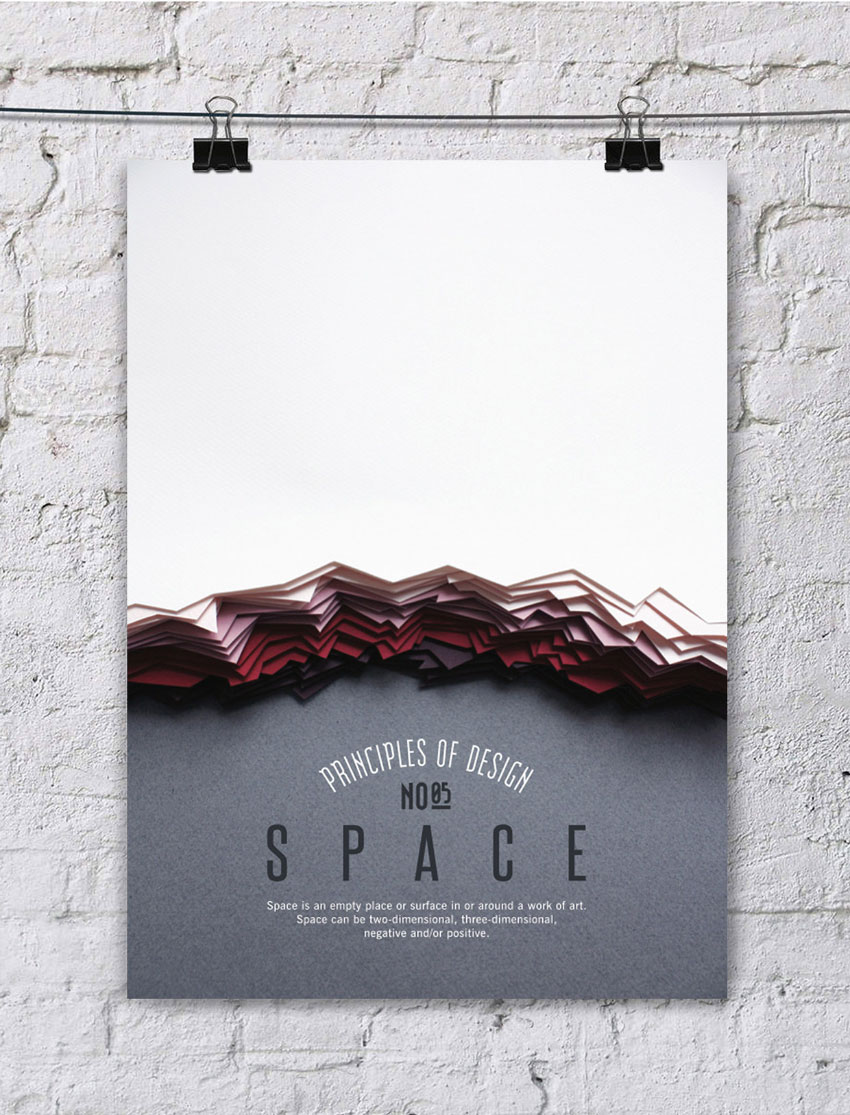 Poster design principles - 5 Space