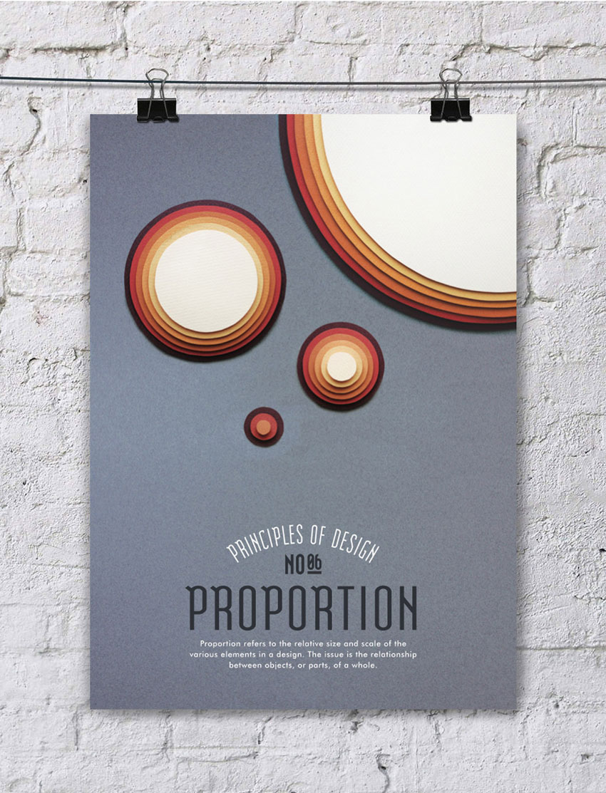 Parts of a poster design -  Proportion Refers To The Relative Size And Scale Of The Various Elements In A Design The Issue Is The Relationship Between Objects Or Parts Of A Whole