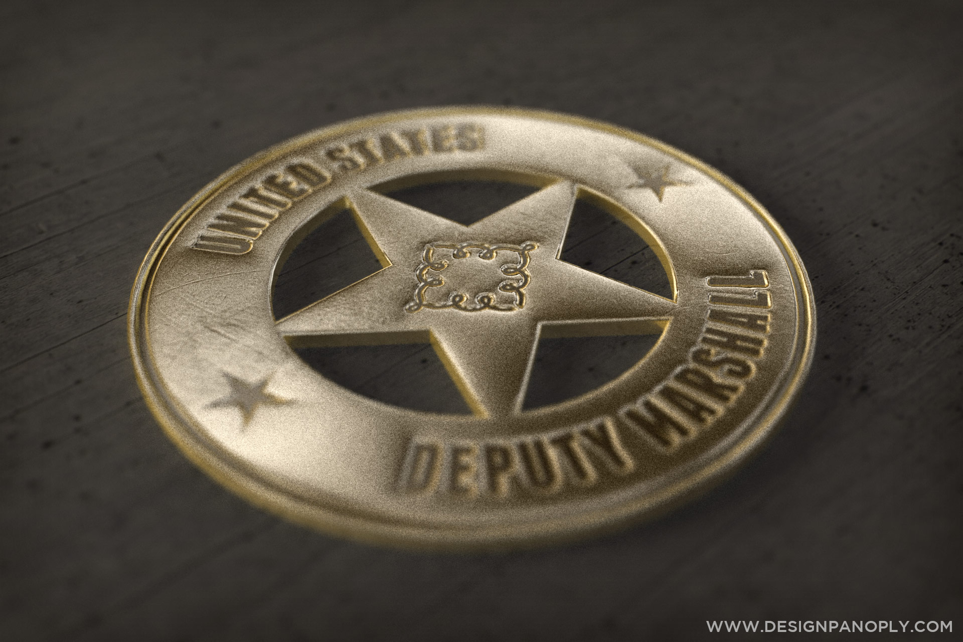 Create a realistic 3d old western badge in illustrator and final image baditri Gallery