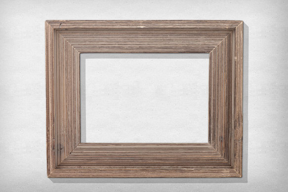 Realistic Vintage Poster Print in a Picture Frame