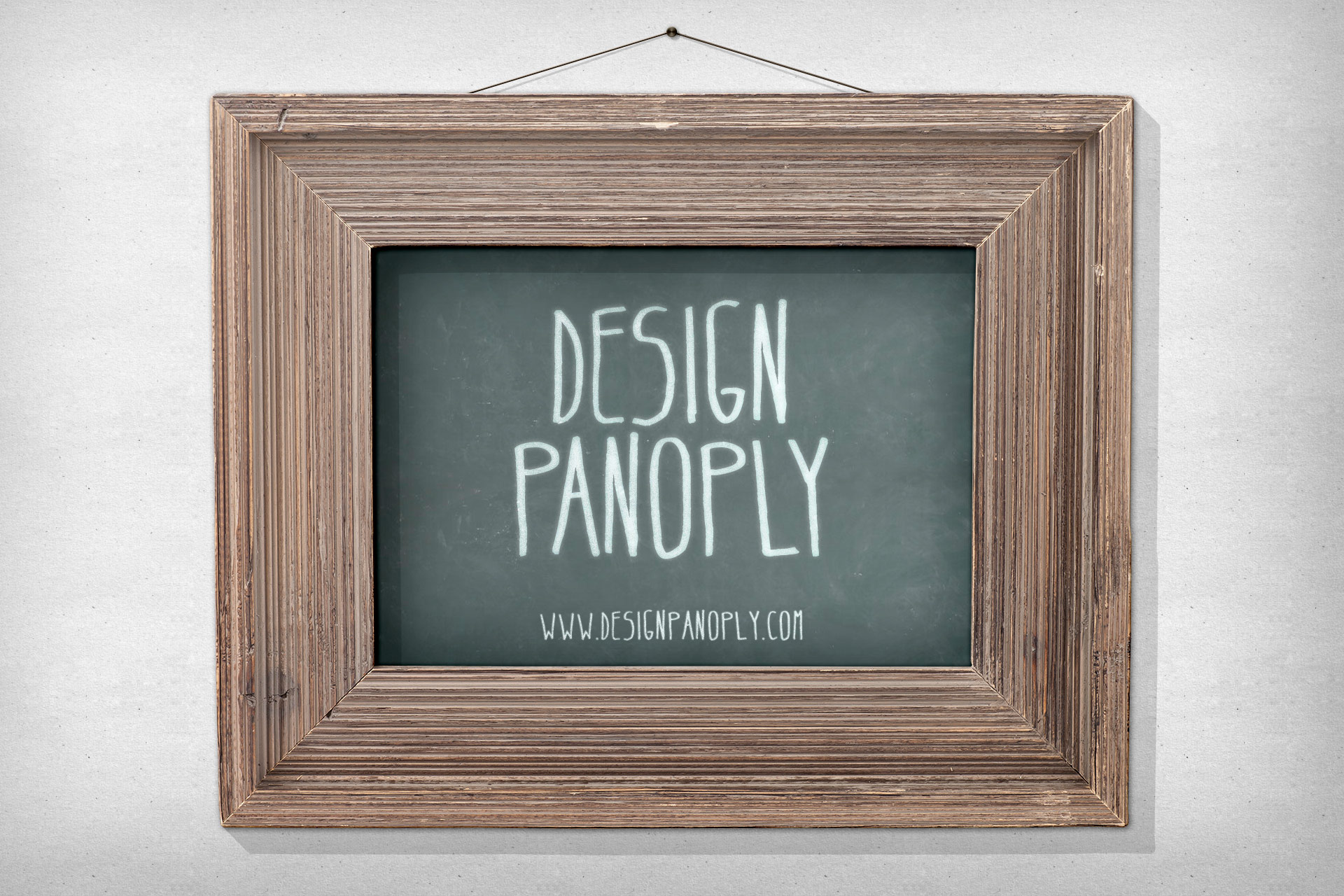 Realistic Vintage Poster Print in a Picture Frame | Design Panoply