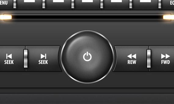 Sleek Car Stereo Interface