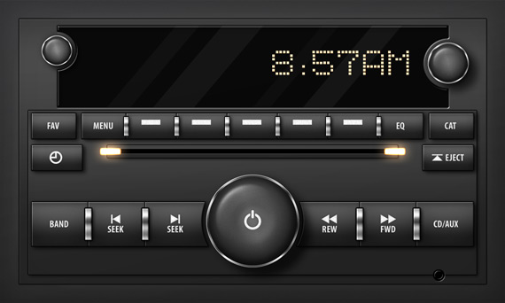 Sleek Car Stereo Interface