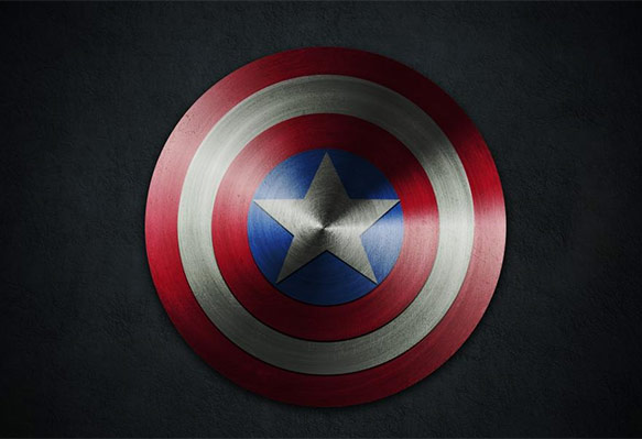 Captain America Shield in Pixelmator