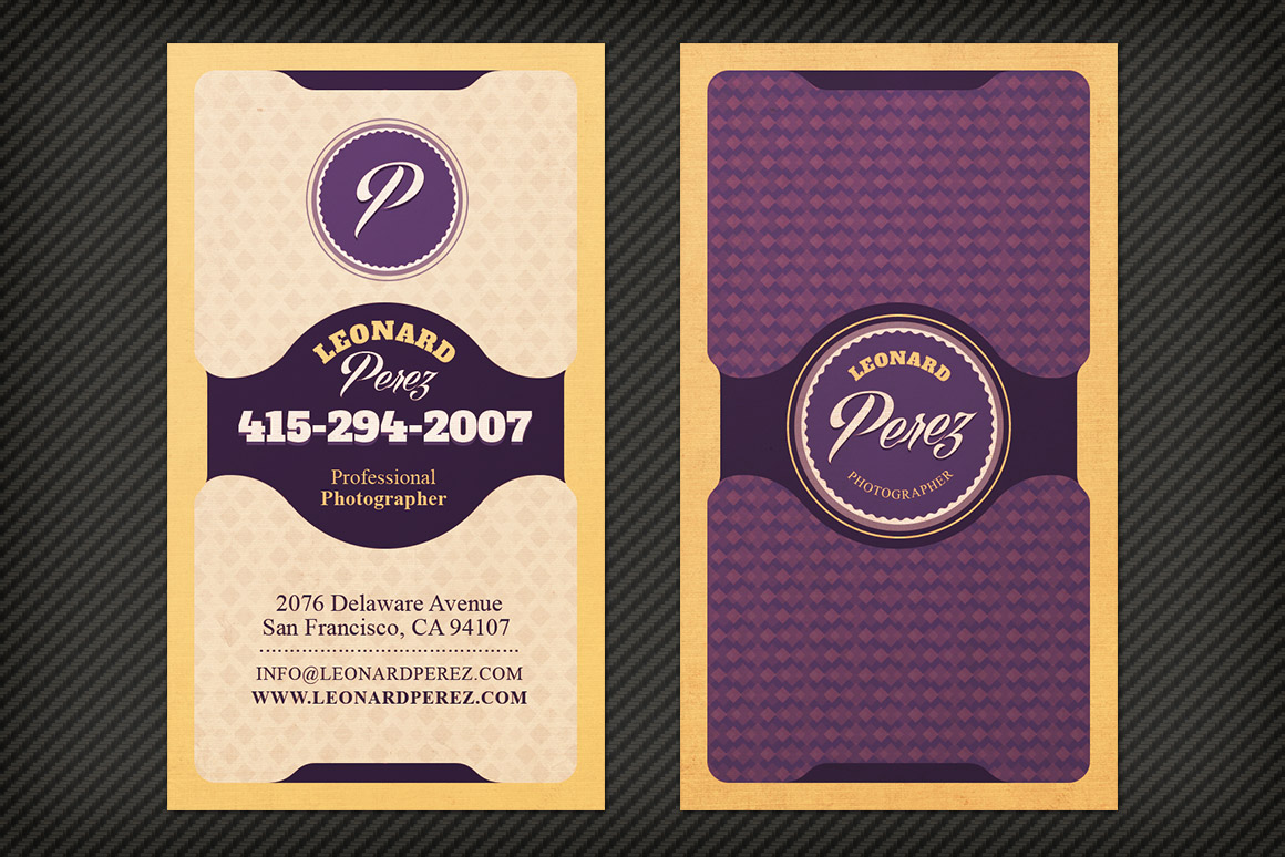 Bright Classy Business Card Template