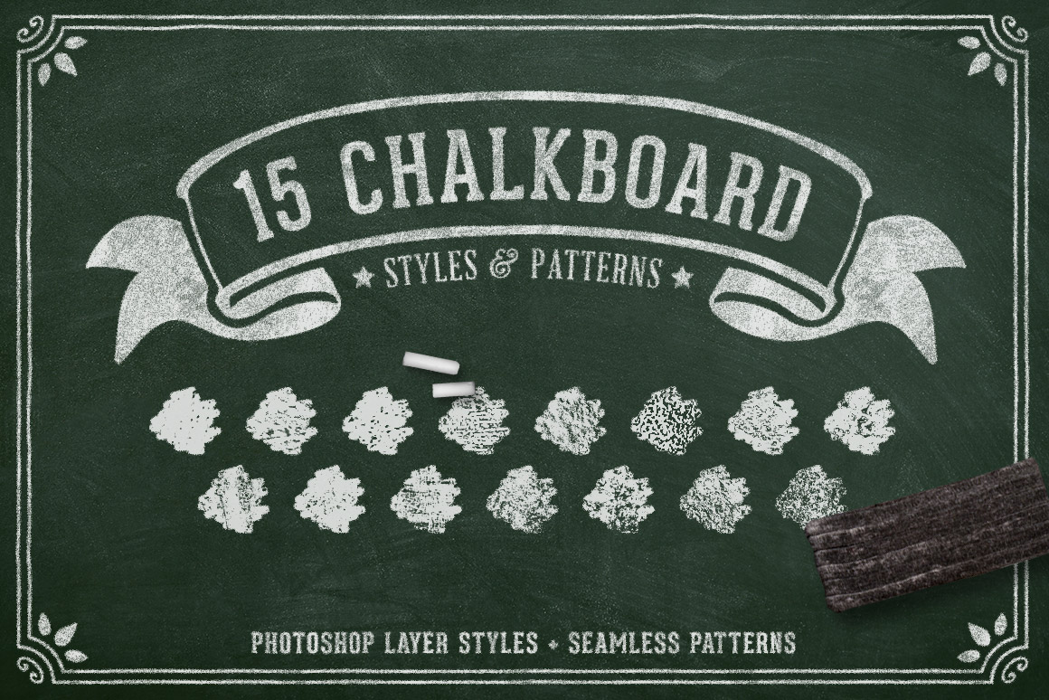 Chalk and Charcoal Photoshop Styles Volume 1 | Design Panoply