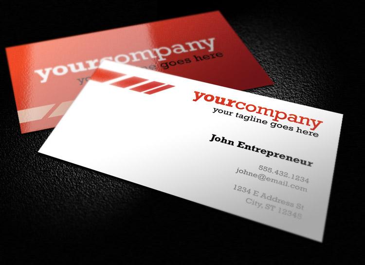Modern business card template 1 design panoply clean and colorful business card template 1 reheart Images