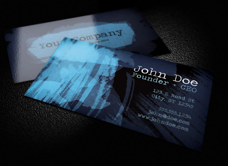 Dark watercolor business card template 1 design panoply dark watercolor business card template 1 colourmoves