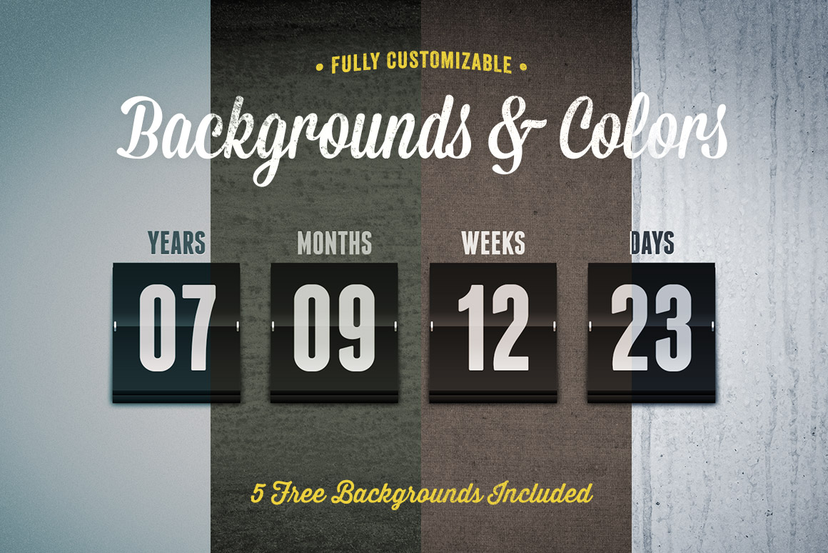 Flipboard Countdown Timer Template | Design Panoply
