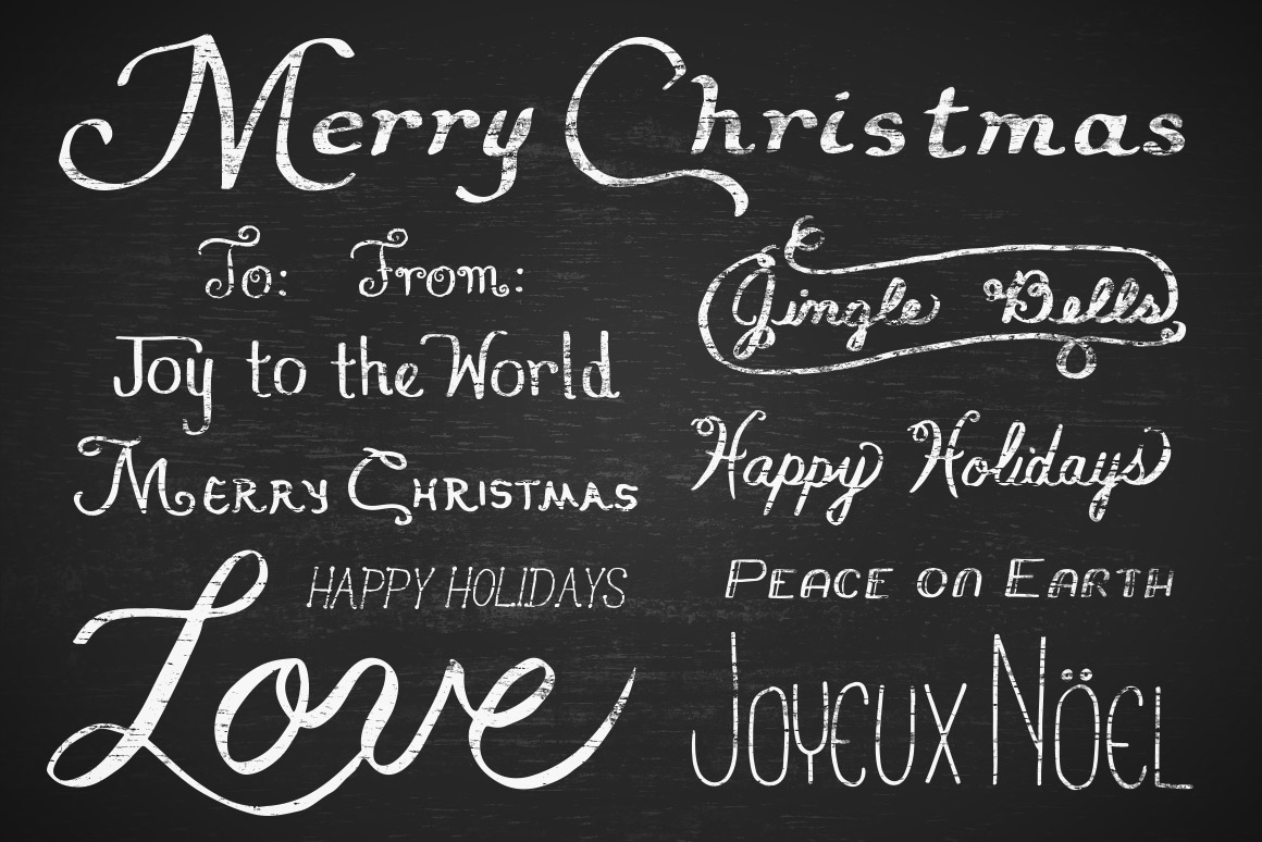 Vector Holiday Titles Volume 1 | Design Panoply