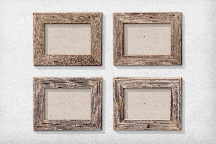 Isolated Natural Wood Picture Frames 1 | Design Panoply