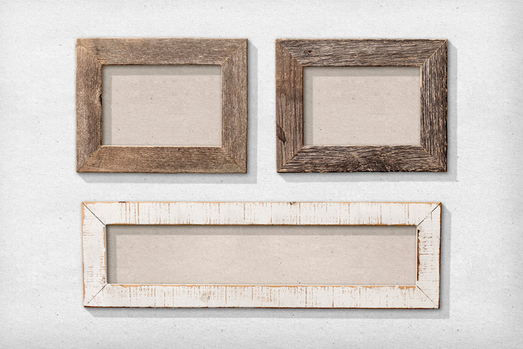 isolated natural wood picture frames 1 - Natural Wood Picture Frames
