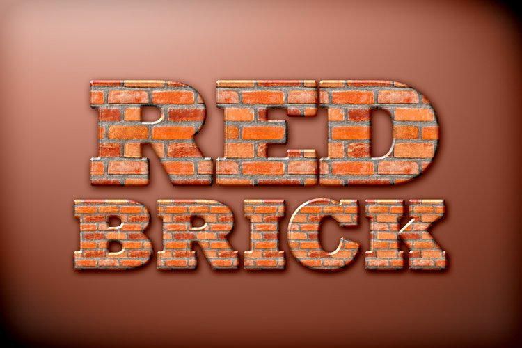 Red brick photoshop style design panoply for Brick types and styles