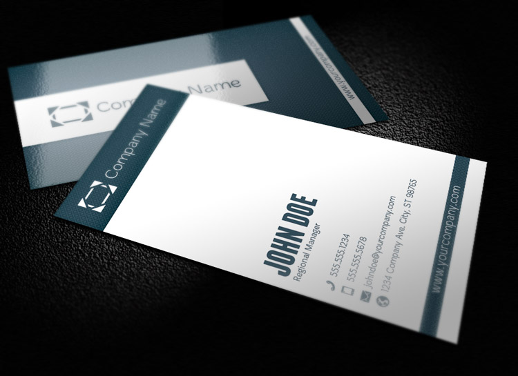 Striped Corporate Business Card Template 1 Design Panoply