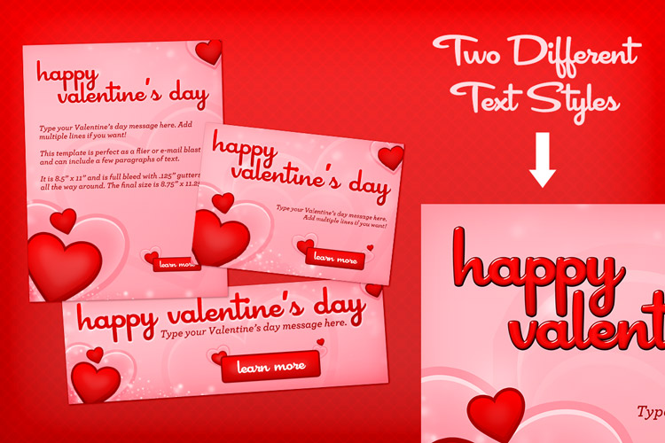 valentine s day hearts template design panoply