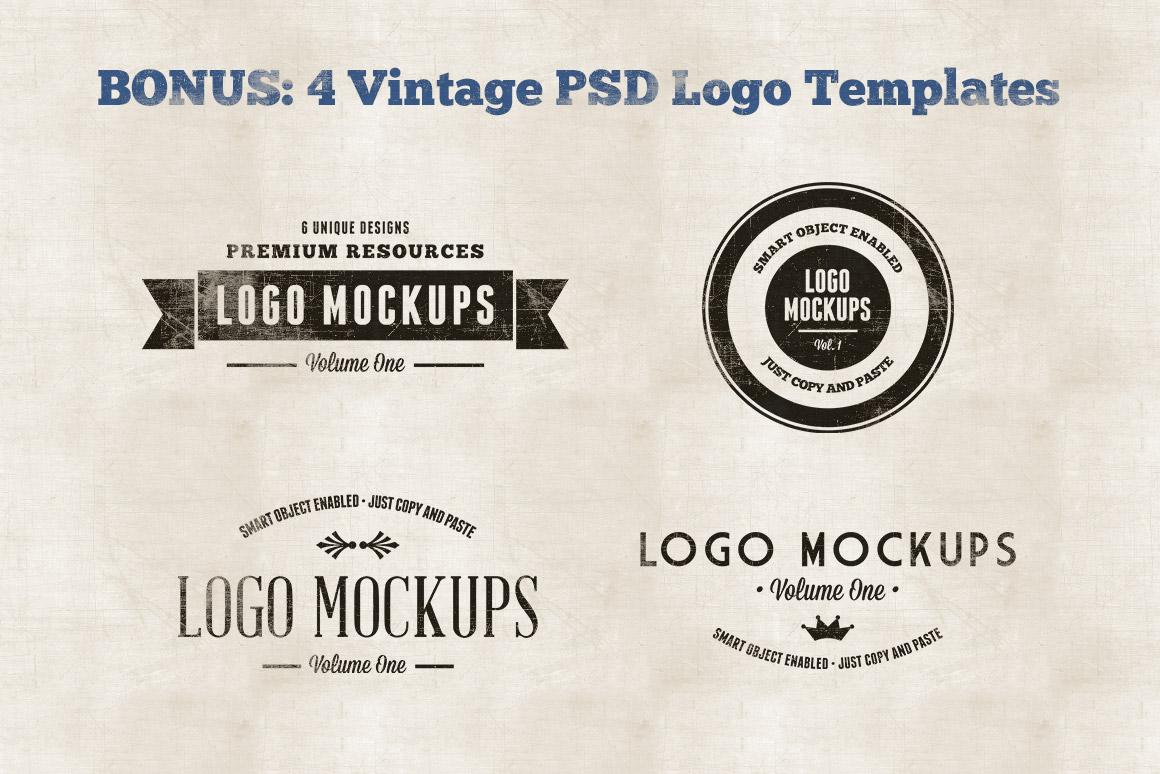 vintage logo mockups volume 1 | design panoply