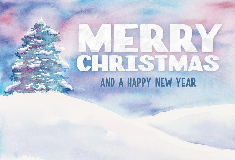 Watercolor Christmas Cards Tutorial Watercolor Christmas Card