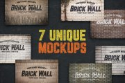 Urban Jungle Brick Wall Mockups Volume 1