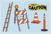 Construction Themed Illustration Pack 1