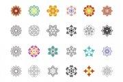 Flower Ornament Vector Pack 1