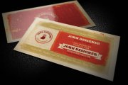 Grungy, Artistic Business Card Template 1