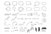 Hand Drawn Design Elements Vector Pack 1
