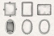 Hand Drawn Frames Brush Pack 1