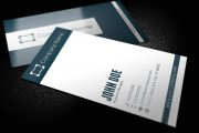 Striped Corporate Business Card Template 1