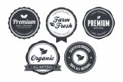 Vintage Circular Badges Vector Pack 3