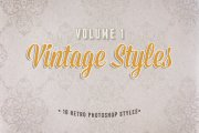 Vintage Photoshop Styles Volume 1