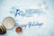 Watercolor Christmas Card Template 3