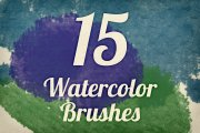Watercolor Strokes Brush Pack 4