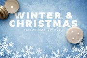 Winter and Christmas Vector Pack Volume 1