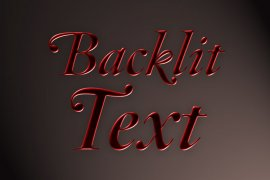 Backlit Text Photoshop Style