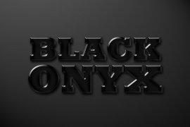 Black Onyx Photoshop Style