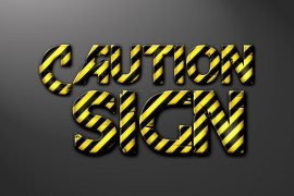 Caution Sign Photoshop Style
