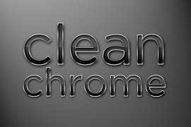 Clean Chrome Photoshop Style