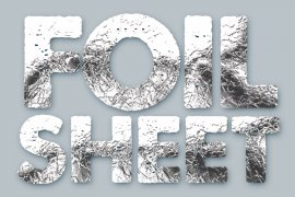 Foil Sheet Photoshop Style