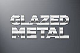 Glazed Metal Photoshop Style