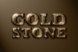 Golden Stone Photoshop Style