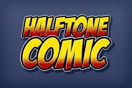 Halftone Comic Photoshop Style