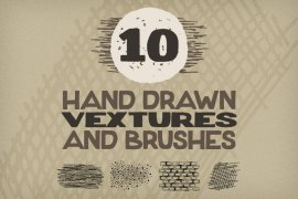 Hand Drawn Vextures and Brushes Pack 1