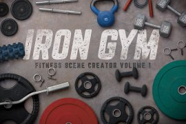 Iron Gym Scene Creator Volume 1